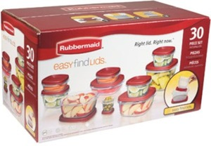Rubbermaid 30pc Pack with Easy Find Lids