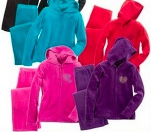 Girls' Danskin NOW Embellished Velour Set