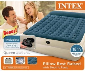 Intex Queen AIrbed w/ Raised Pillow Rest