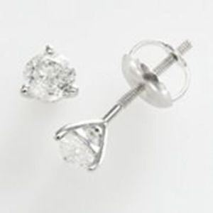 1/2 ct. tw. Round-Cut Diamond Martini Stud Earrings in 14k White Gold