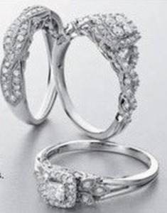 1/4 ct. tw. and 1/3 ct. tw.  Diamond Bridal Rings in 14K White Gold
