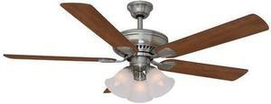 "Hampton Bay Campbell II 52"" Ceiling Fan - Brushed Nickel"