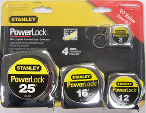 Stanley Powerlock 4-Pk. Tape Measure