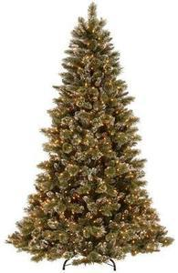 7.5' Martha Stewart Living Quick Set Pre-Lit Decorated Sparkling Pine Christmas Tree