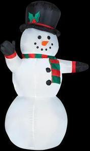 4 ft. Airblown Lighted Outdoor Snowman