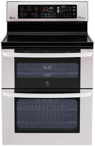 LG 6.7 cu. ft. Stainless Steel Self-clean Double Oven Electric Convection Range