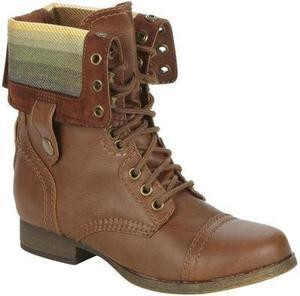 SM New York Women's Corey Ankle Combat Boot - Tan