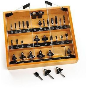 Craftsman 30-pc. Router Bit Set in Wooden Case