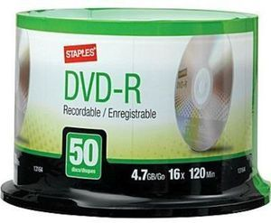 Staples DVD-R 50-Pk.