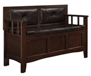Linon Lofton Espresso Indoor Accent Bench
