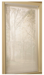 "Project Source 34""x64"" White Vinyl 1"" Slat Mini-Blind"