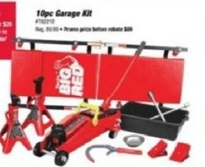 Big Red 10pc Garage Kit