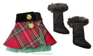 Claus Couture Collection Tartan Skirt and Boots