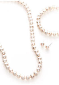 Genuine Cultured Pearl 3-Piece Boxed Set