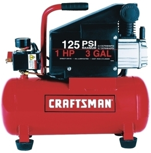 Craftsman 1HP 3Gal Horizontal Air Compressor