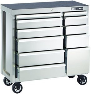 Craftsman  Heavy-Duty Stainless Steel Rolling Cabinet