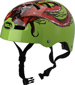 Bell Segment Matte or Glow Green Helmet