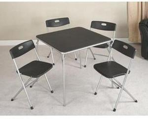 Essential Home 5-Piece Card Table and Chairs
