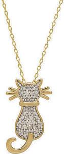 1/10 ct. tw. Diamond Cat Pendant