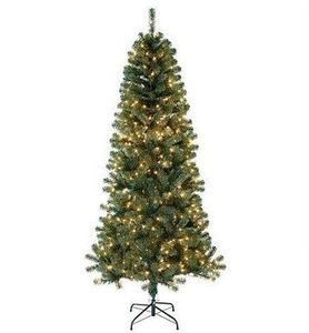 7-ft. Pre-Lit Slim Tree