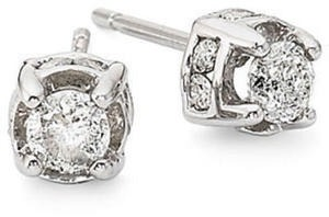 1/2 Ct. T.W. Diamond Studs in 10k White Gold