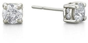 1 ct. tw. Diamond Swirl Studs in14K White Gold