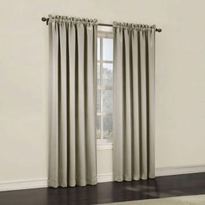 Sun Zero Emory Room-Darkening Rod-Pocket Curtain Panel Pair