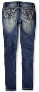 Revolution by Revolt Girls' Fleur De Lis Embroidered Skinny Jeans