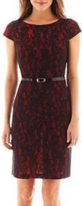 Alyx Women's Short-Sleeve Belted Lace Dress