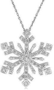 Snowflake Diamond-Accent Pendant Sterling Silver
