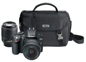 Nikon D3200 24.2MP Digital SLR Camera w/ 18-55mm And 55-200mm Lenses