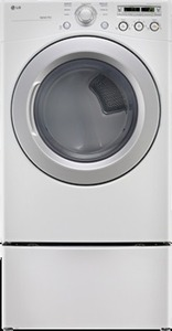 LG - 7.3 Cu. Ft. 7-Cycle Ultralarge-Capacity Electric Dryer - DLE3050W