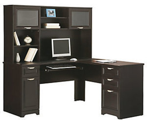 Realspace Magellan L Desk & Hutch Bundle