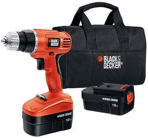 Black & Decker Refurbished Drill + 2 Batteries and Bag