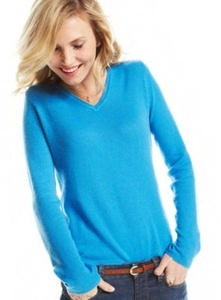 Women's Charter Club Cashmere Long-Sleeve V-Neck Sweater