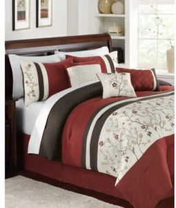 Bella Donna 7 Piece Embroidered Comforter Sets
