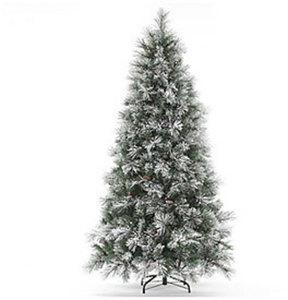 7.5' Flocked Prelit Tree