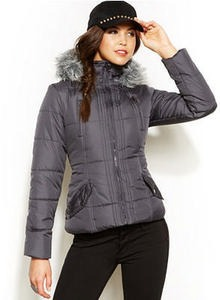 Krush Faux-Fur Hooded Puffer Jacket
