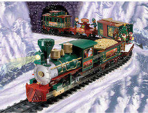 Battery Operated North Pole Christmas Train Set