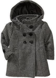 Toddler Girls' Tweed Peacoats