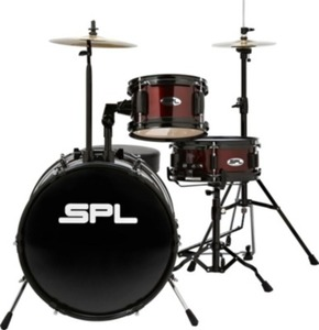 Sound Percussion Lil Kicker  3 Piece Jr Drum Set with Throne