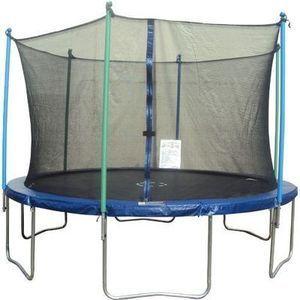 Jump Zone 14' Round Trampoline w/ Enclosure