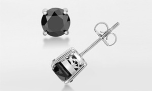 1.00 CTW Black Diamond Stud Earrings (starts 11/28)