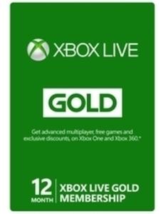 Microsoft Xbox Live 12-mo Gold Card