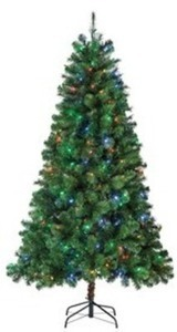 Holiday Living 6.5' Pre-Lit Pine Artificial Christmas Tree