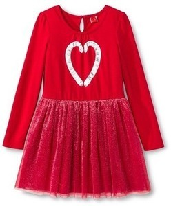 Grils' Circo Red Holiday Dress
