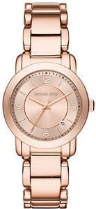Michael Kors Women's Janey Rose Gold-Tone Stainless Steel Bracelet Watch 33mm MK3486