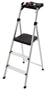Rubbermaid Aluminum Step Stool w/ Tray