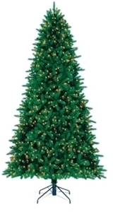 Perfect Shape 9ft Grand Fir Lighted Christmas Tree