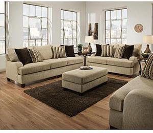 Simmons Upholstery HIGHLAND TAUPE SOFA